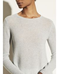 Vince Cashmere Trimless Pullover - Gray