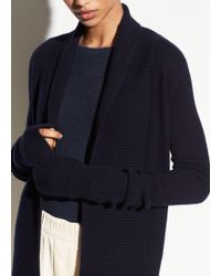 Vince - Wide Collar Cashmere Cardigan - Lyst