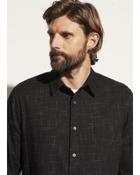 Vince Crosshatch Long Sleeve - Black
