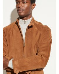 Vince Suede Harrington Jacket - Brown