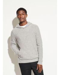 Vince Men's Cashmere Pullover Hoodie - Grey