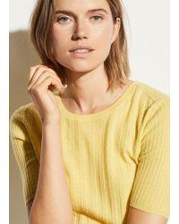 Vince Cashmere Elbow Sleeve Pullover - Multicolour