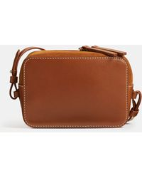 41c2e0a9cd56b Vince Medium Signature Leather Cross-Body Bag in Natural - Lyst