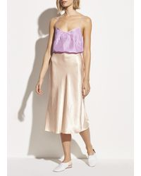 Vince Satin Slip Skirt - Multicolour