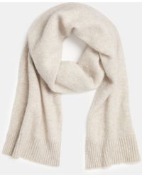 Vince Boiled Cashmere Rib Trim Scarf - Natural