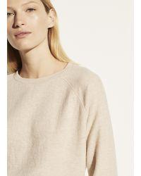 Vince Long Sleeve Raglan Pullover - Natural