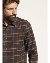 Vince Windowpane Plaid Long Sleeve - Grey