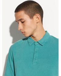 Vince Garment Dye Short Sleeve Polo - Multicolour