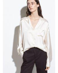 Vince - Silk-satin Pyjama Popover - Lyst