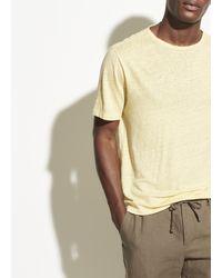 Vince Linen Short Sleeve Crew - Multicolour