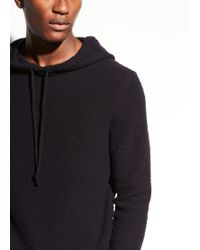 Vince Wool Pullover Hoodie in Black for Men | Lyst