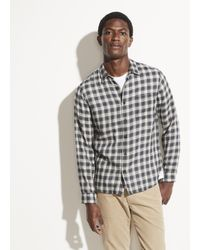 Vince Classic Plaid Long Sleeve - Natural