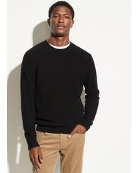 Vince Boiled Cashmere Crew - Black