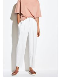 Vince Tapered High Waist Crop - White