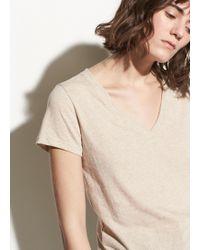 Vince - Essential Pima Cotton V-neck - Lyst