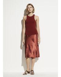 Vince Satin Slip Skirt - Multicolour