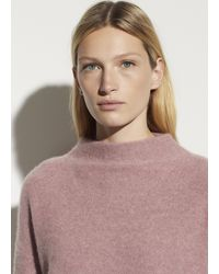 Vince Boiled Cashmere Funnel Neck Pullover - Multicolour
