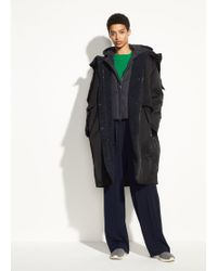 Vince - Mixed Media Puffer Coat - Lyst