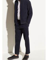 Vince Structured Track Pant - Blue