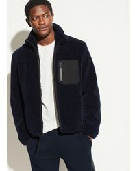 Vince - Faux Sherpa Zip Jacket - Lyst