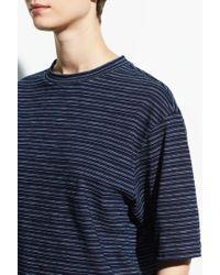 Vince - Indigo Stripe Wide Sleeve Crop Tee - Lyst