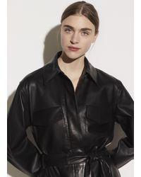 Vince Leather Safari Jacket - Black