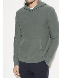 Vince Boiled Cashmere Pullover Hoodie - Gray