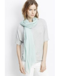 Vince - Fringed Scarf - Lyst