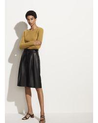 Vince Leather Short - Black