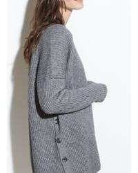 Vince - Ribbed Button Cardigan - Lyst