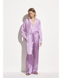 Vince Satin Pajama Pant - Purple