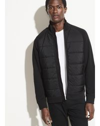 Vince Quilted Knit Jacket - Black