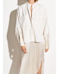 Vince D-ring Sleeve Utility Shirt - White