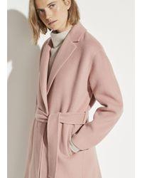 Vince Belted Coat - Pink