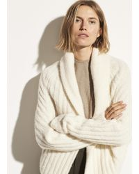 Vince Textured Alpaca Shawl Cardigan - Multicolour