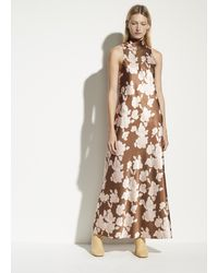 Vince Tapestry Floral Turtleneck Dress - Multicolor