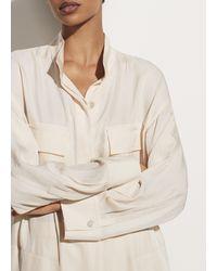 Vince Utility Shirt Dress - Natural