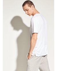 Vince - Reverse Hem Short Sleeve - Lyst