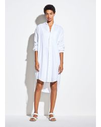 Vince Oversized Classic Shirt Dress - White