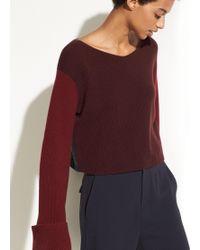 Vince - Colour Block Cashmere Pullover - Lyst