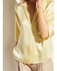 Vince Satin Pyjama Shirt - Yellow