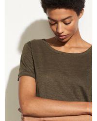 Vince - Short Sleeve Linen Crew - Lyst