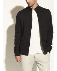 Vince Merino Sweater Jacket - Black