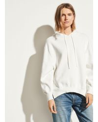 Vince Oversized Cotton Hoodie - White