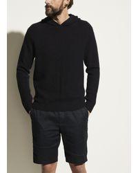 Vince Marled Cashmere Pullover Hoodie - Black