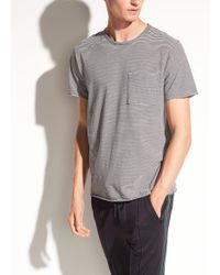 Vince - Feeder Stripe Pima Cotton Short Sleeve - Lyst