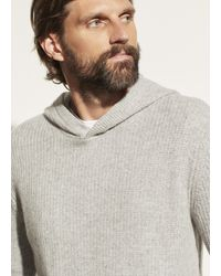 Vince Marled Cashmere Pullover Hoodie - Gray