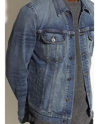 Vince The Trucker Jacket - Blue