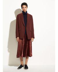 Vince - Chevron Pleated Skirt - Lyst