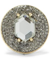 Vince Camuto Round Jeweled Ring - Metallic